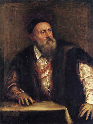 Self Shot Painting - Self-portrait by Titian
