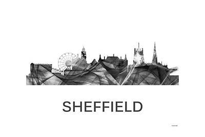 Digital Art - Sheffield England Skyline by Marlene Watson