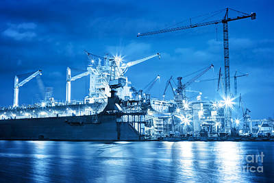 Industry Photograph - Shipyard At Work by Michal Bednarek
