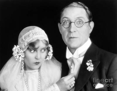Wedding Gown Photograph - Silent Film Still: Wedding by Granger