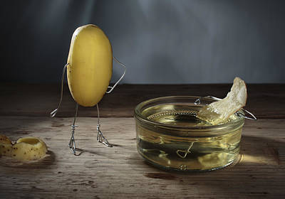 Fries Photograph - Simple Things - Potatoes by Nailia Schwarz