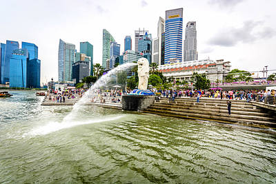 Firefighter Patents Royalty Free Images - Singapore Cityscape Royalty-Free Image by Jijo George
