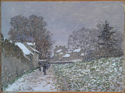 Claude Painting - Snow At Argenteuil by MotionAge Designs