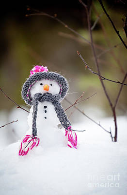 Photograph - Snowman by Kati Finell