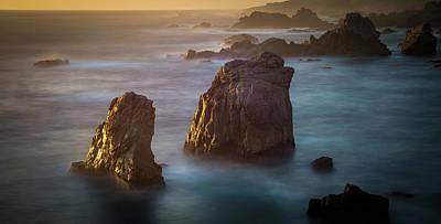Music Figurative Potraits - Soberanes point big sur california beautiful sunset by Alex Grichenko