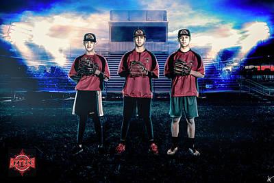 Fox Digital Art - Southwest Aztecs Baseball Organization by Nicholas Grunas