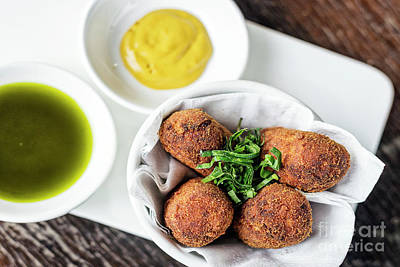 Bath Time - Spanish Portuguese Beef Pork Fried Croquette Croquetes Snack Foo by JM Travel Photography