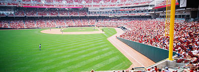 Spectators Watching A Baseball Match Art Print by Panoramic Images