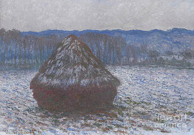 Thawing Painting - Stack Of Wheat by Claude Monet