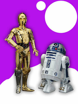 R2d2 Mixed Media - Star Wars C3po And R2d2 Collection by Marvin Blaine
