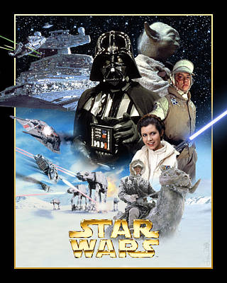 Star Alliance Digital Art - Star Wars Episode V - The Empire Strikes Back 1980 by Fine Artist
