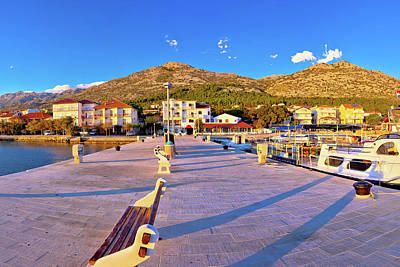 Photograph - Starigrad Paklenica Waterfront At Sundown Panoramic View by Brch Photography