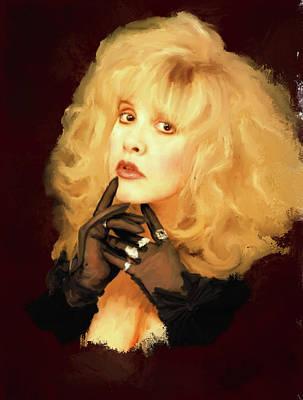Stevie Nicks Art Print by Brian Tones