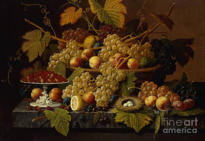 Still Life With Fruit Art Print by Severin Roesen