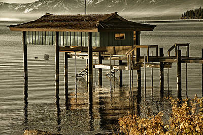 Photograph - Stilt Hut In A Lake by Celso Diniz