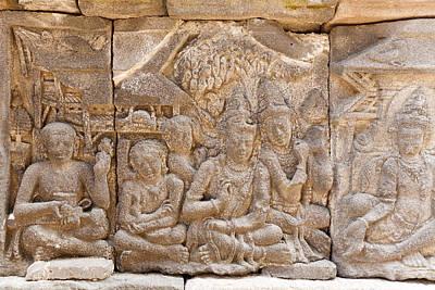 Soap Suds - Stone carving of Prambanan Hindu temple, Yogyakarta,  Java by Rostislav Ageev
