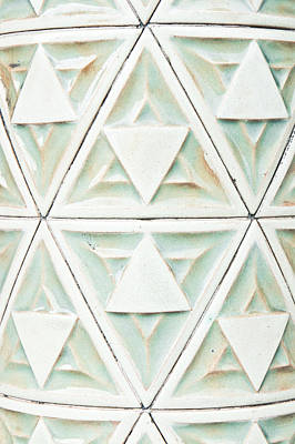 Ceramic Design Photograph - Stone Pattern by Tom Gowanlock