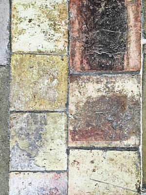 Mosaic Photograph - Stone Tiles by Tom Gowanlock