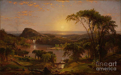 Jasper Francis Cropsey Painting - Summer. Lake Ontario by Celestial Images
