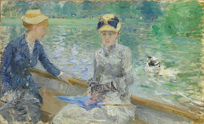Berthe Digital Art - Summers Day by Berthe Morisot