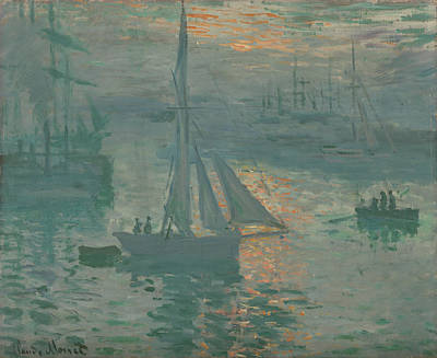 Painting - Sunrise Marine by Claude Monet