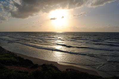 Photograph - Sunset At Jaffa Beach 12 by Isam Awad