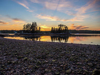 Photograph - Sunset Down East Maine by Trace Kittrell