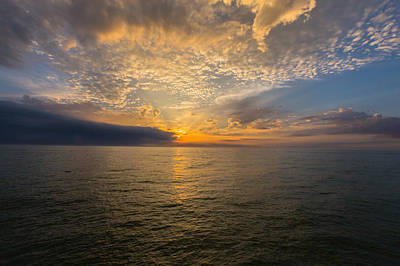Photograph - Sunset On The Gulf Of Mexico by Josef Pittner