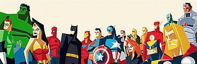 Superheroes Digital Art - Superheroes Dc by Egor Vysockiy