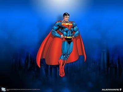 Superman Digital Art - Superman by Alice Kent