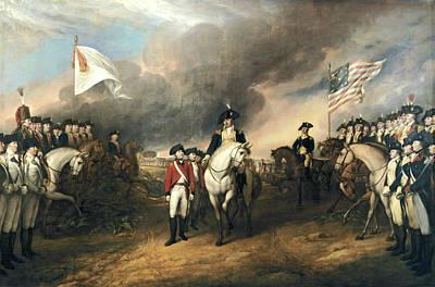 Surrender Of Lord Cornwallis Art Print by John Trumbull
