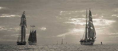 Photograph - Tall Ship Parade by Cliff Wassmann