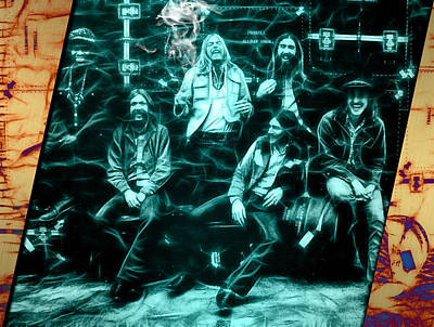 Music Mixed Media - The Allman Brothers Collection by Marvin Blaine