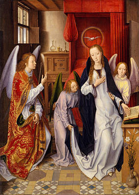 Gabriel Painting - The Annunciation by Hans Memling