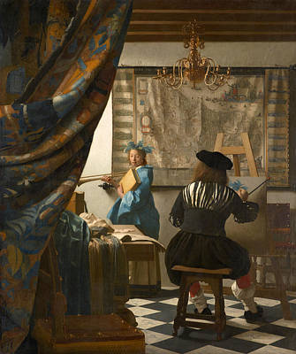 Working Painting - The Art Of Painting by Johannes Vermeer