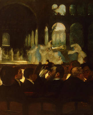 Stage Lights Painting - The Ballet From Robert Le Diable by Edgar Degas