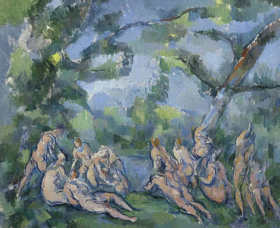 Nudist Painting - The Bathers by Paul Cezanne