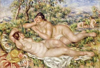 Bather Renoir Painting - The Bathers by Pierre-Auguste Renoir