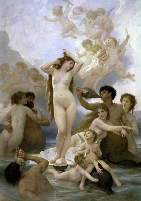 Venus Wall Art - Painting - The Birth Of Venus by William-Adolphe Bouguereau