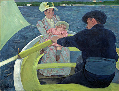 Painting - The Boating Party by Mary Cassatt