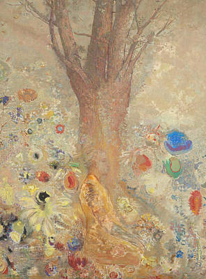 The Buddha Painting - The Buddha by Odilon Redon