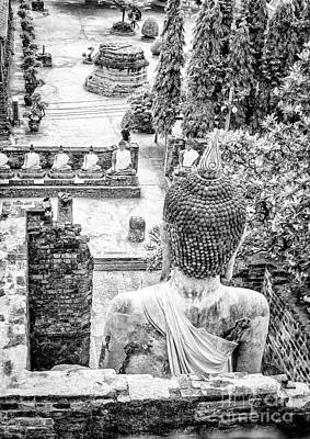 Photograph - The Buddha Statues Of Wat Yai Chai Mongkol by Rene Triay Photography