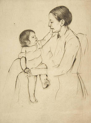 Relief - The Caress by Mary Cassatt