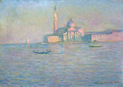 The Church Of San Giorgio Maggiore, Venice Art Print by Claude Monet