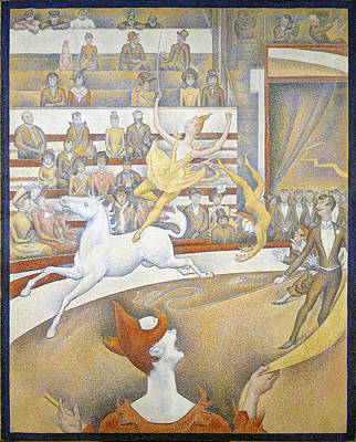 Painting - The Circus by Georges Seurat