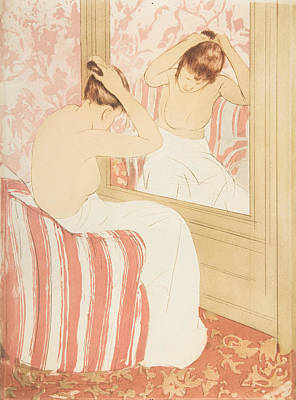 Relief - The Coiffure by Mary Cassatt