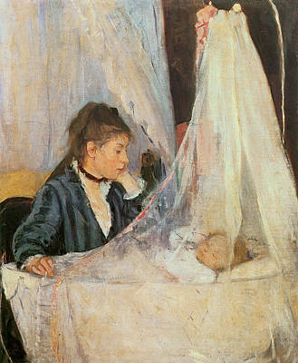 Black Lace Photograph - The Cradle by Berthe Morisot