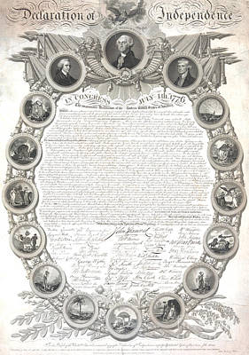 The Declaration Of Independence  Art Print by American School
