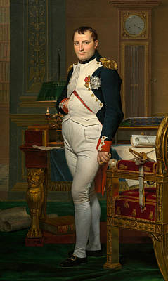 Painting - The Emperor Napoleon In His Study At The Tuileries by Jacques-Louis David