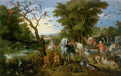 The Entry Of The Animals Into Noah's Ark Art Print by Jan Brueghel the Elder